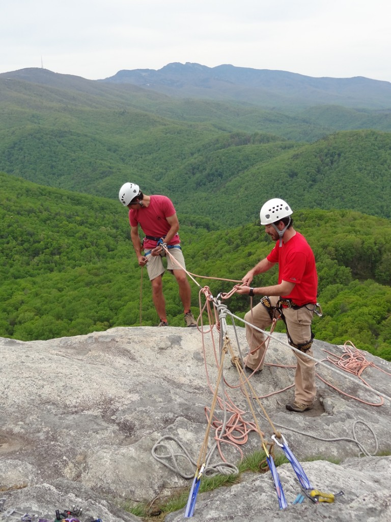 Rappelling photo